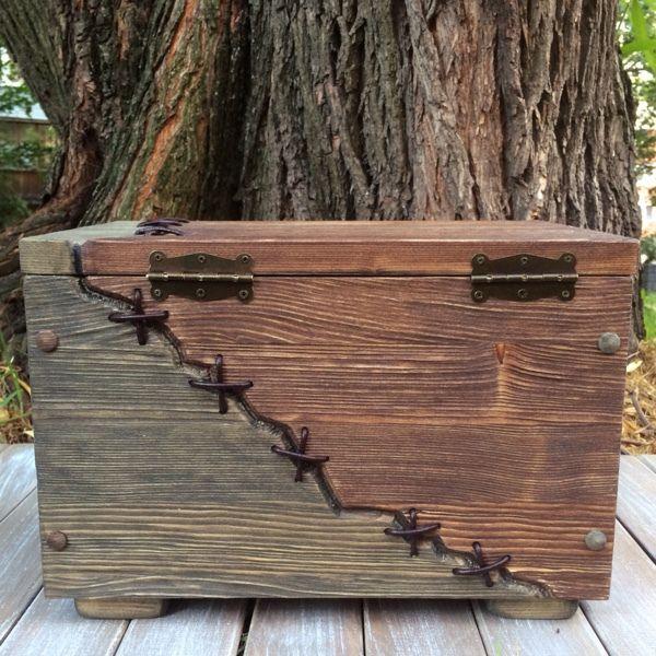 """Купить Сундук деревянный """"Франкенштейн"""". - сундук, сундук купить, сундучок, деревянный сундук, сундук из дерева"""