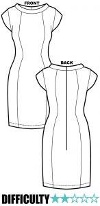 Audrey Dress RP050 - Ralph Pink Patterns