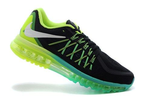 698902-003 Air Max black green mens running shoes 2015