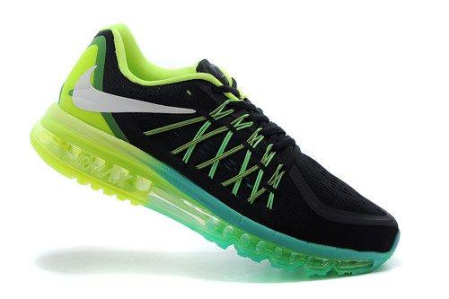 698902-003 Air Max black green mens running shoes 2015