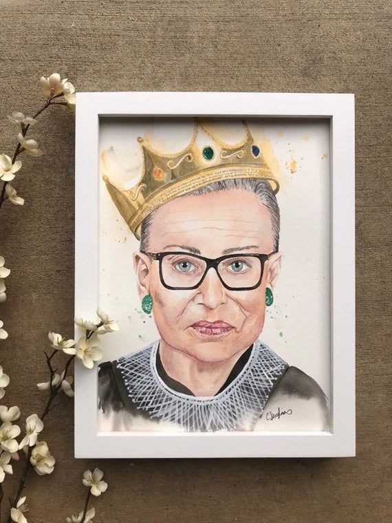 The Notorious Rbg Justice Ruth Bader Ginsburg Watercolor Etsy Paintings Art Prints Watercolor Paintings Original Watercolor Painting