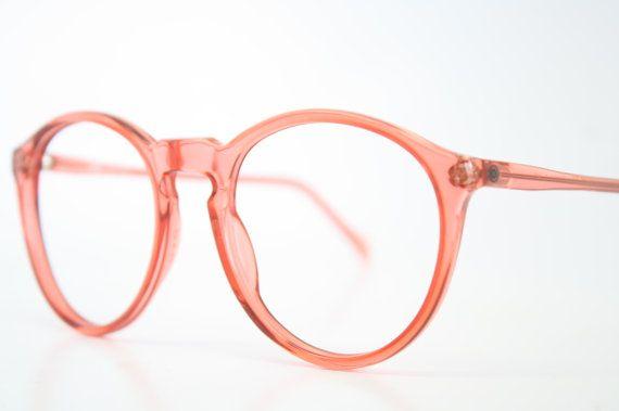 Vintage Brille Rahmen Rosa P3 einzigartige Brillen von PinceNezShop, $118.00