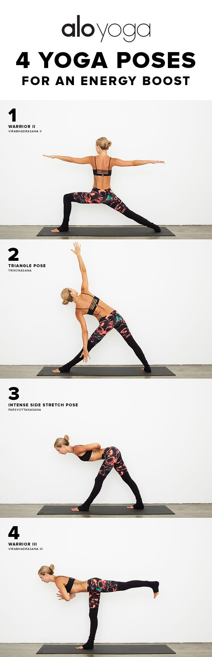 4 Yoga Poses For An Energy Boost #yoga #yogaposes