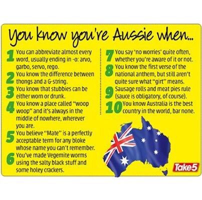 Top ten Aussie isms
