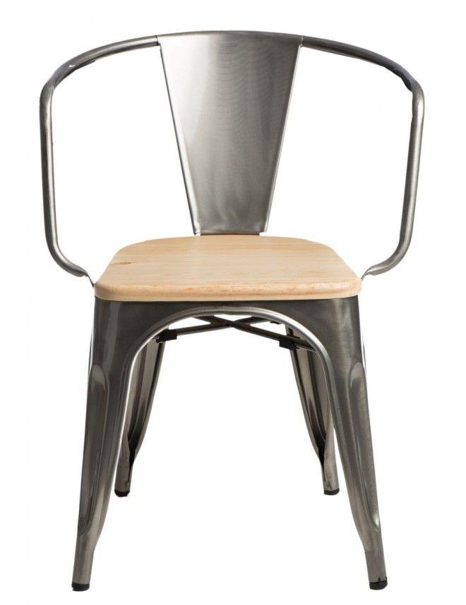 Scaun retro Paris lemn natural si metal  #scaun #scaunretro #scaunmetal #scaunmodern #magazinonline #mobila #mobilier #scaune #artimgroup