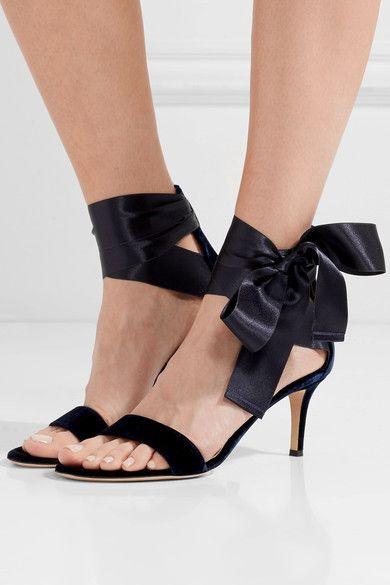 Gianvito Rossi Magnificent Velvet And Satin Sandals In