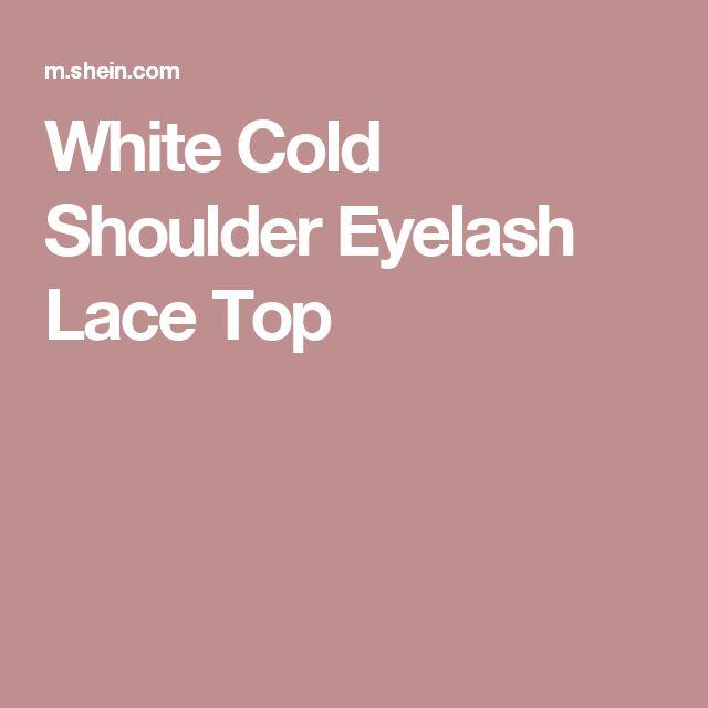 White Cold Shoulder Eyelash Lace Top