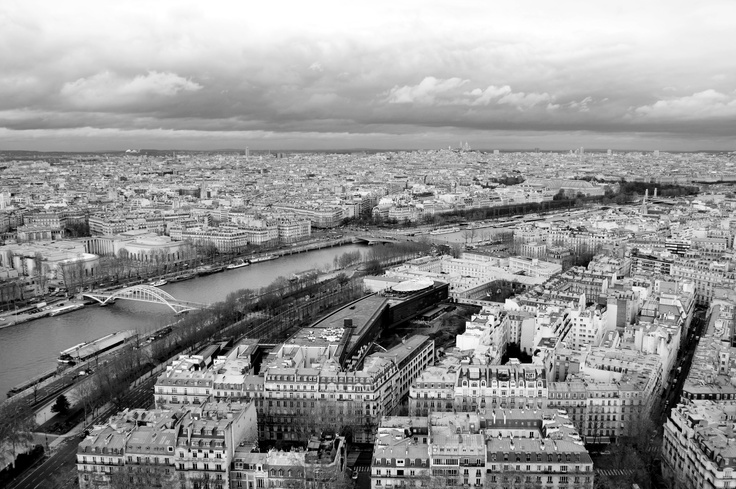 #Paris #River #View #Skyline #Art