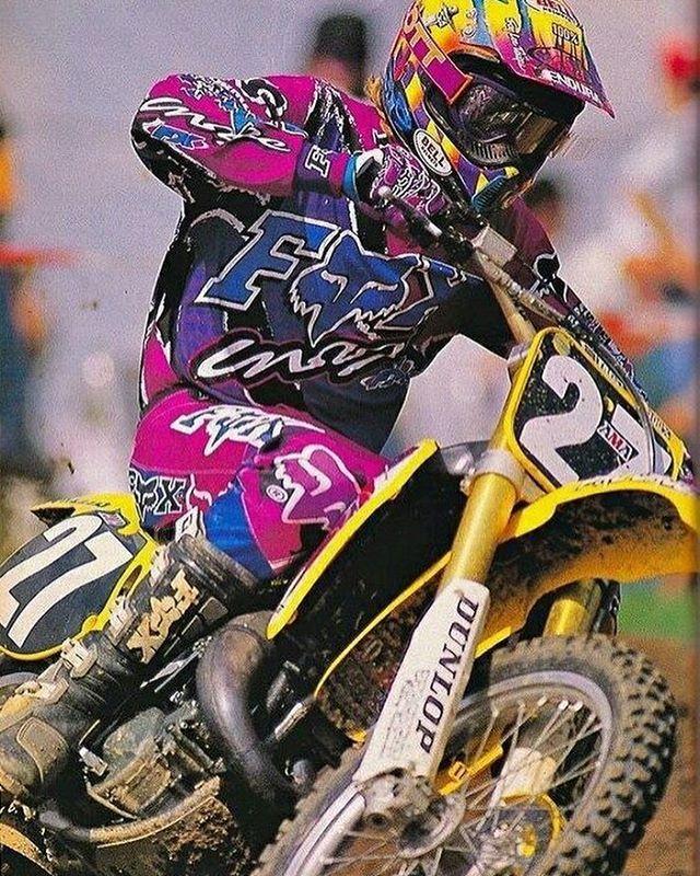 @dbo360 and that amazing Fox Gear! #suzuki #fox #foxmx #foxracing #mx #sx #moto #supercross #motocross #90smx #90smoto #90smotocross