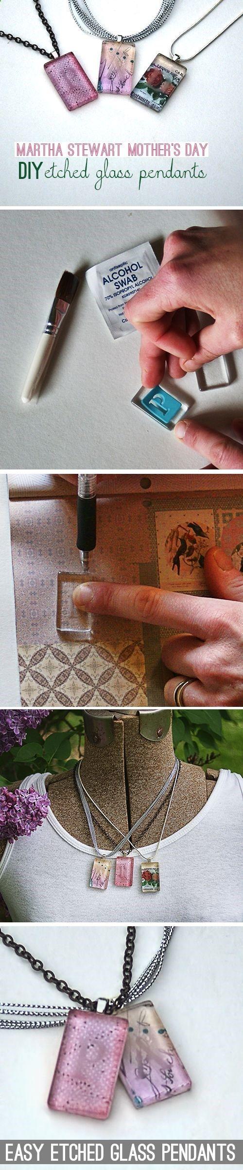 @savedbyloves DIY Etched Glass Tile Pendant