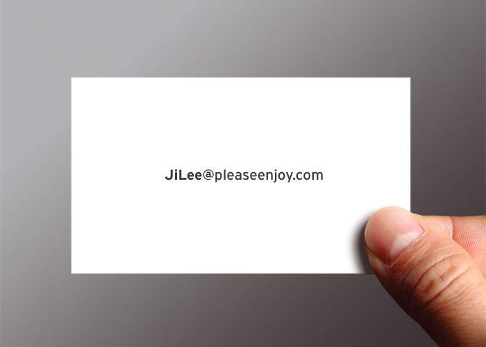 Ji Lee's Survey Business card - front