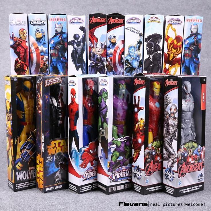 "Titan Hero Series Avengers Superheroes PVC Action Figures Toys 12"" 30cm Iron Man Spiderman Thor Captain America HRFG451"
