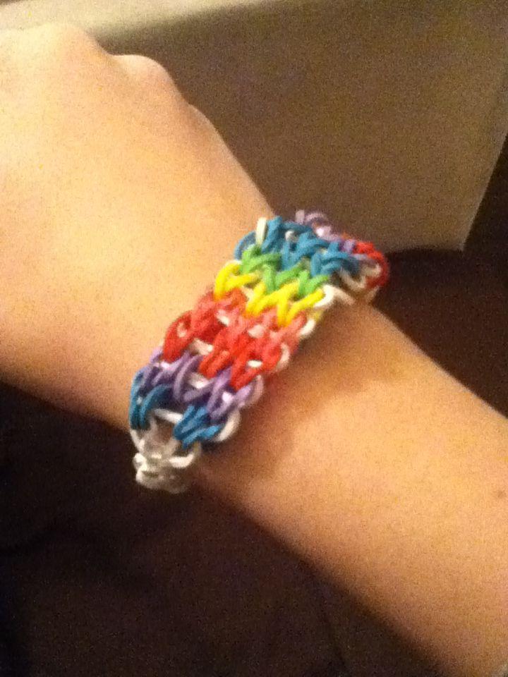 bracelet multicolore en lastiques bracelets pinterest. Black Bedroom Furniture Sets. Home Design Ideas