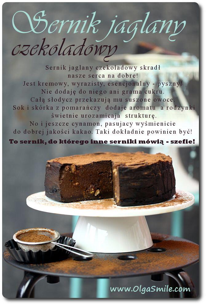 sernik jaglany czekoladowy