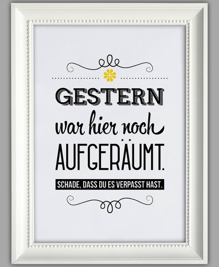 "SMART-ART ★ Kunstdruck ""Aufgeräumt"""
