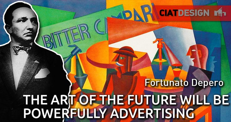He made the #Campari Soda bottle in the '32 and was also the first advertising marketer, making advs boards like that. He is Fortunato #Depero, an italian futurist artist.