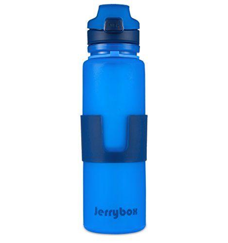Nuova offerta in #assortito : Bottiglia per Acqua da 650 ml Blu in Silicone di Tipo AlimentareBorraccia Sportiva Jerrybox (senza BPA) a soli 1000 EUR. Affrettati! hai tempo solo fino a 2016-10-26 23:40:00