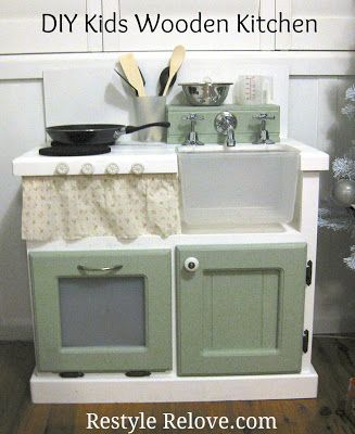 Restyle Relove: DIY Kids Wooden Kitchen -