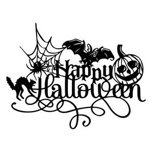 silhouette design store view design 154270 happy halloween decoration - How To Draw Halloween Decorations
