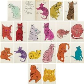 Andy Warhol, 25 Cats Named Sam and One Blue Pussy