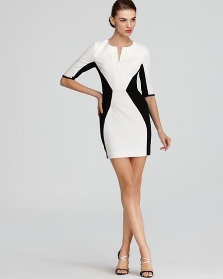 Платье комбинированное из нескольких цветов