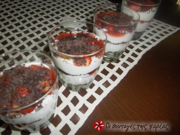 Triffle με oreo και φράουλες #sintagespareas