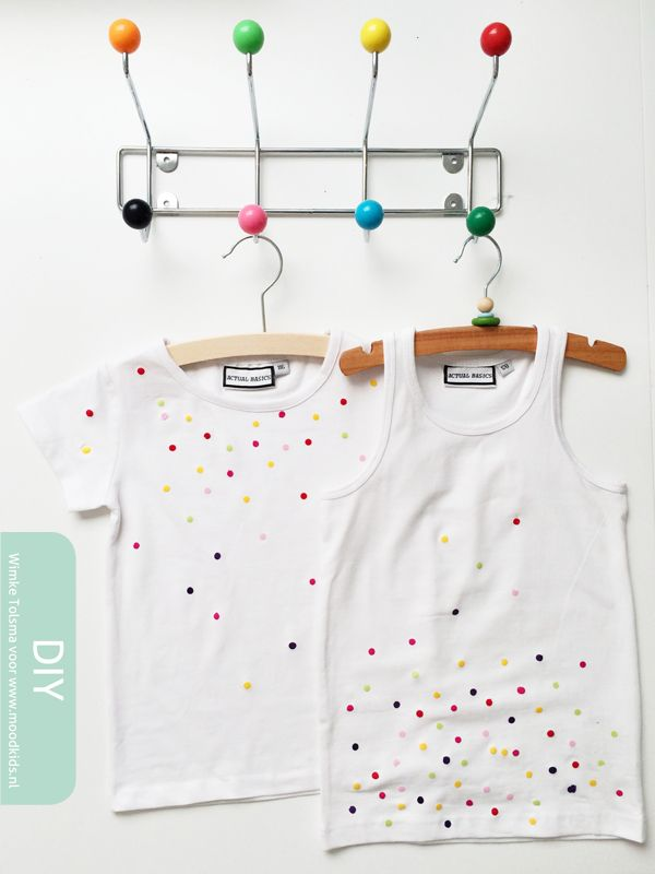 confetti shirt zelf maken - stap voor stap