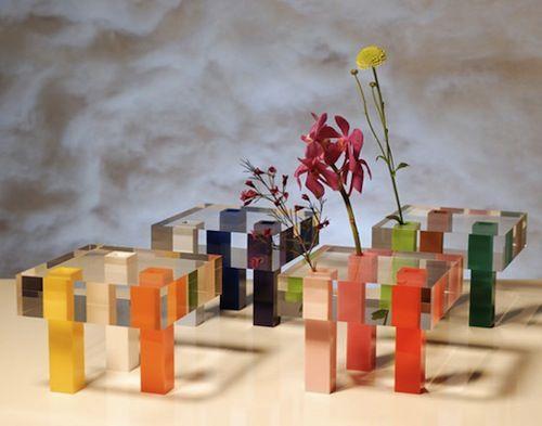 acrylic tables by emmanuelle moureaux: lovely acrylic tables by emmanuelle moureaux via design milk