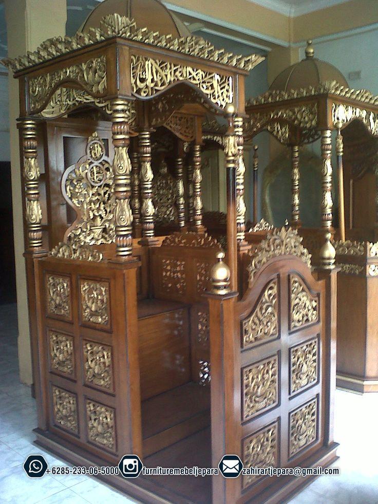Mimbar Masjid Jati Ready Stok www.ukirmebeljepara.net 085233065000