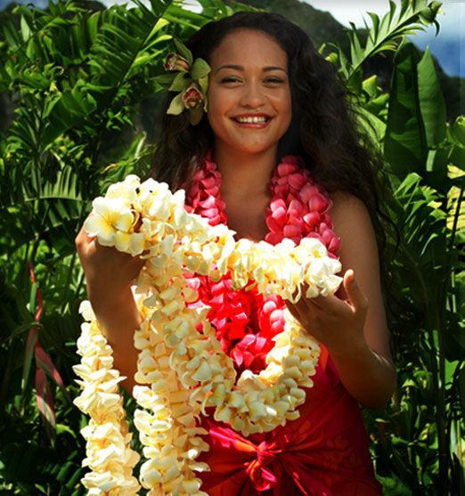 The Aloha Spirit is demonstrated in the giving of a Lei at special events.