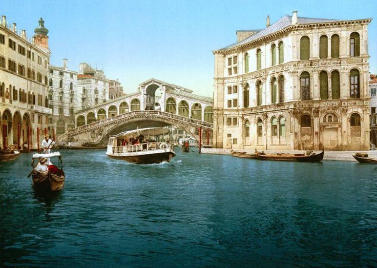 Il Canal Grande e Ponte di Rialto (1890s), Venezia