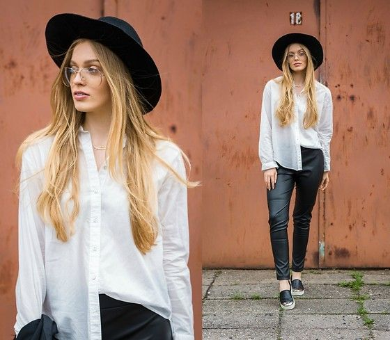 Marta Caban - Mohito Hat, H&M Shirt, The Twiggy Shop Leggings, Stradivarius Shoes - MY LEATHER LEGGINGS