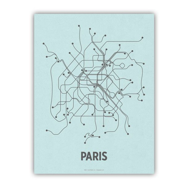A modern mapping of the Paris metro and RER Train lines.