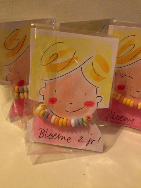 snoepketting-traktatie voor Bloeme