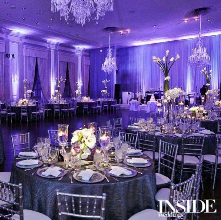 Beautiful purple-blue color wedding idea.