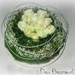 Gesteck mit weißen Rosen DIY