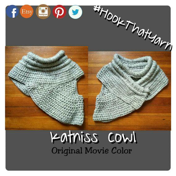 Crochet Katniss Cowl Hunger Games knit hunger door HookThatYarn