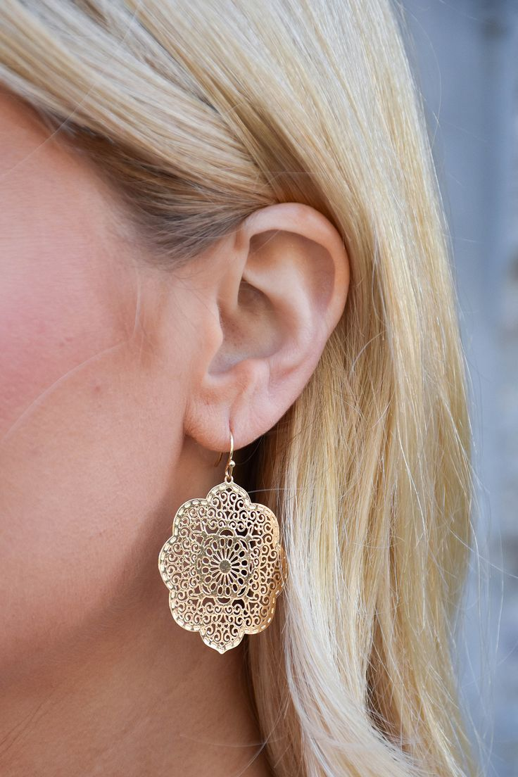 Round Gold Moroccan Earrings