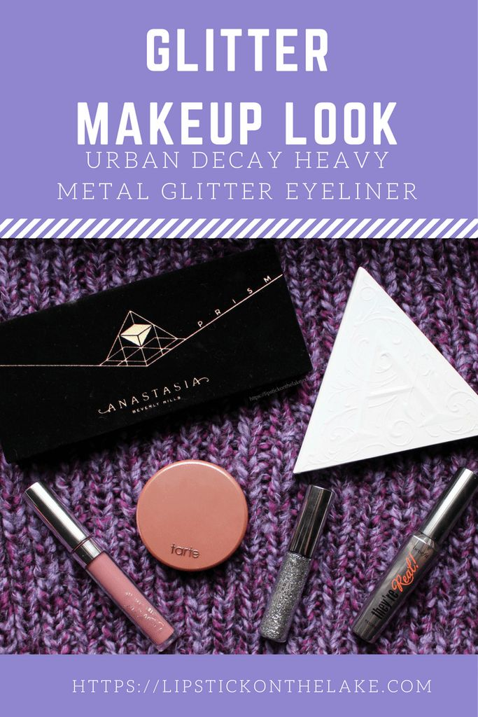 Glitter Makeup Look - Urban Decay Heavy Metal Glitter Eyeliner Glamrock