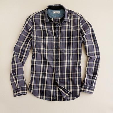 J. Crew Heavyweight flannel shirt in Eddison plaid