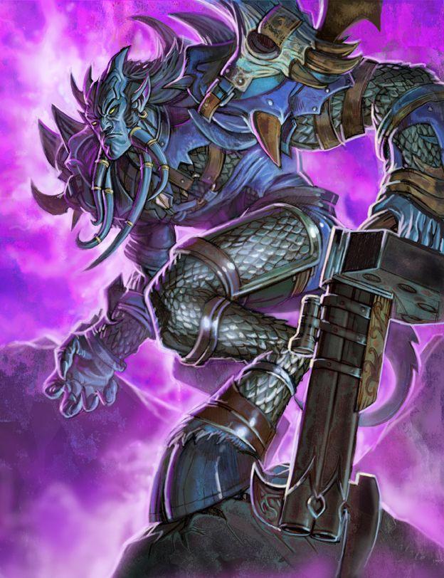 Draenai from World of Warcraft card games by Steve-Ellis.deviantart.com on @deviantART