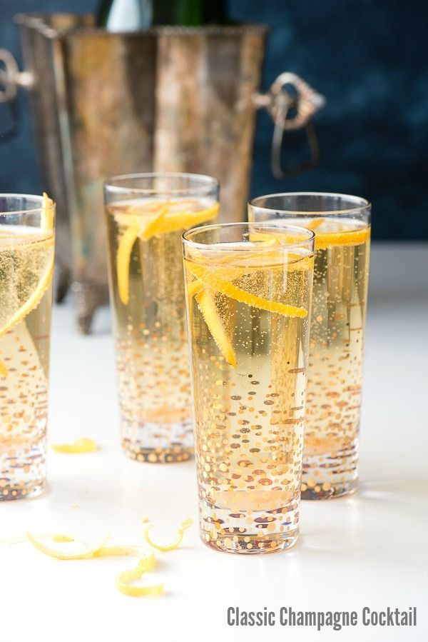 Classic Champagne Cocktail. A quick and easy way to jazz up a glass of Champagne for any celebration! - http://BoulderLocavore.com