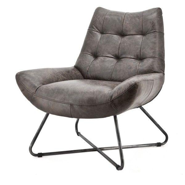 Fauteuil Pedro - Antractiet Vintage Leder - Fauteuils - Sfeer.nl, meubelen en woonaccessoires