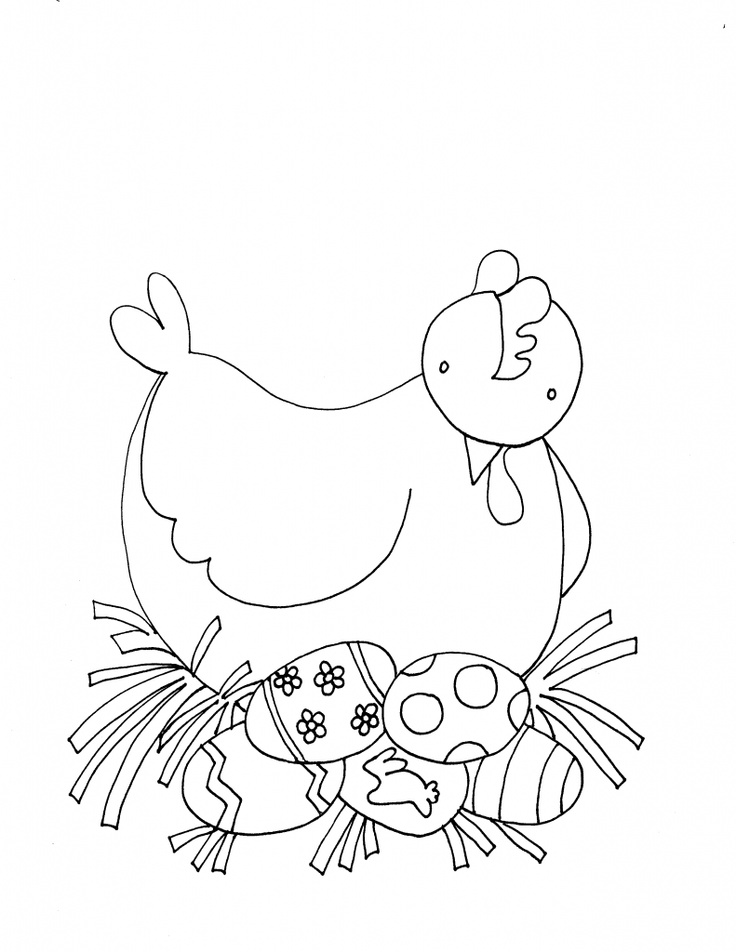 Coloring Pages Of Animals That Lay Eggs : Best images about chickens patterns on pinterest
