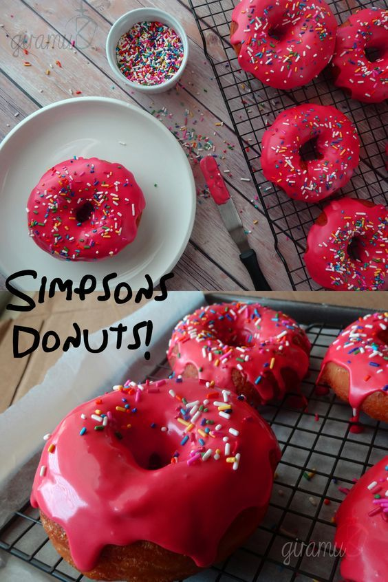 These delicious, soft and perfectly sweet Donuts are a tribute to America's Favourite TV family - The Simpsons!!  Perfect to eat anytime!