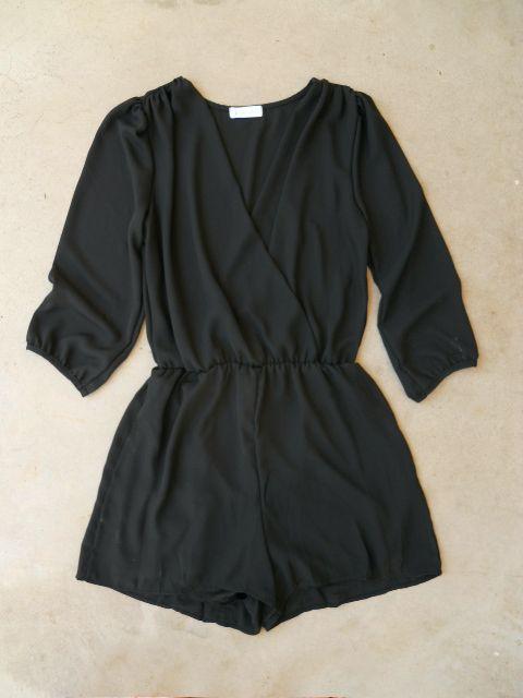 Coronado Romper in Black