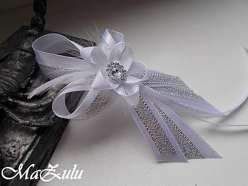 MaZulu / svadobné pierko strieborné