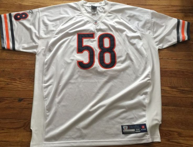 ... Wilbur Marshall Chicago Bears Mens Size 56 Sewn Reebok NFL Football Jersey  Reebok ChicagoBears ... dbc8ec801
