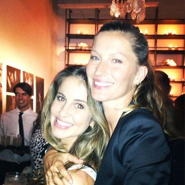 Gisele Bundchen with sister Gabriela
