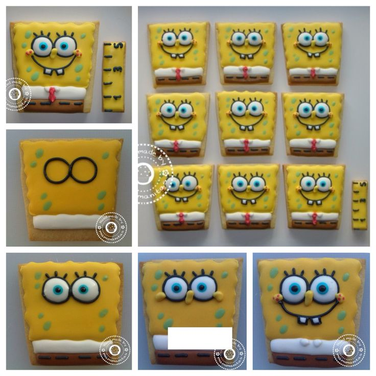 Spongebob squarepants how to cookies from Royal icing